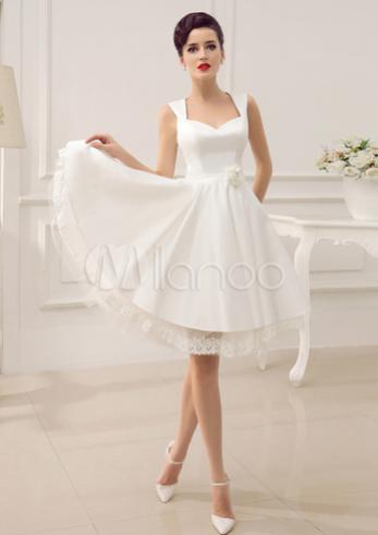Backless Short Wedding Dress