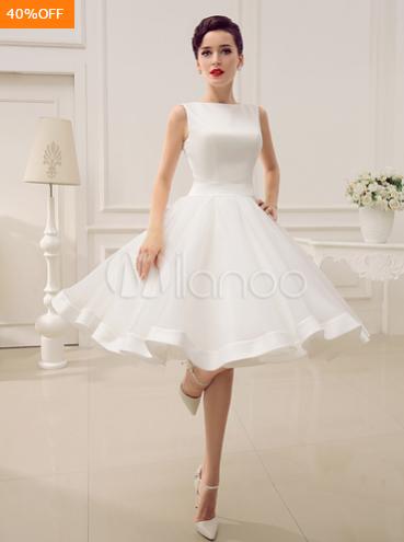 Backless A-line Short Wedding Dress
