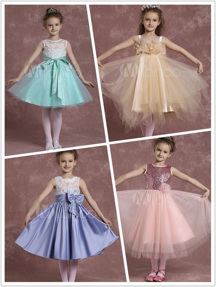 5f07799c4dd Flower Girl Dresses for your lovely little girls - Milanoo Blog