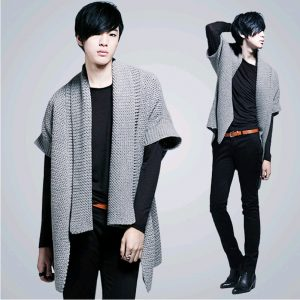 Knitted Men's Overcoat