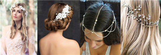 Boho wedding hairpieces