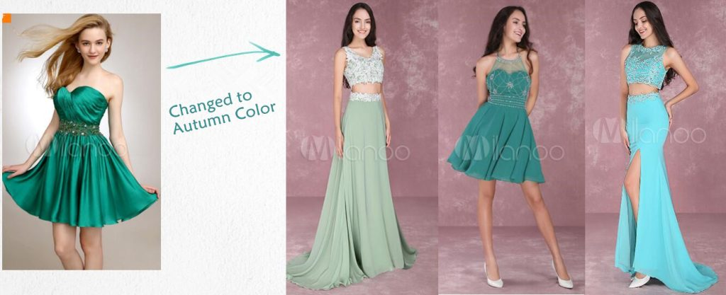 Light green to Dark green, Sage Green or Turquoise