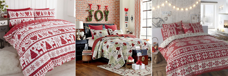 christmas bed sheet and pillow