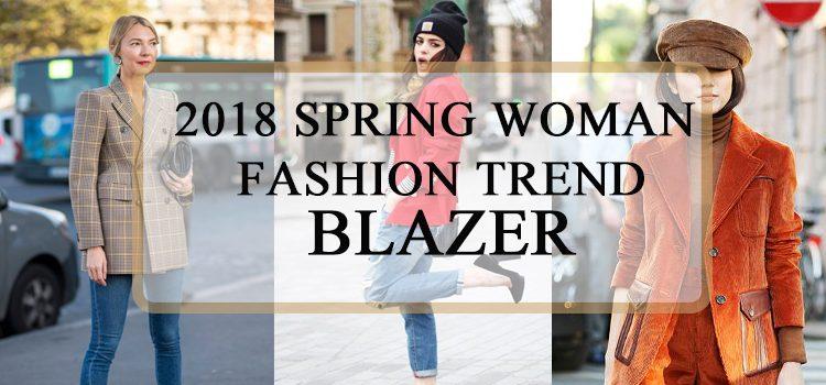 2018 Spring Woman Fashion Trend Blazer