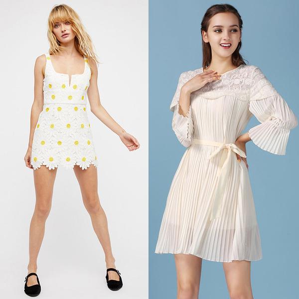 sweet white dresses