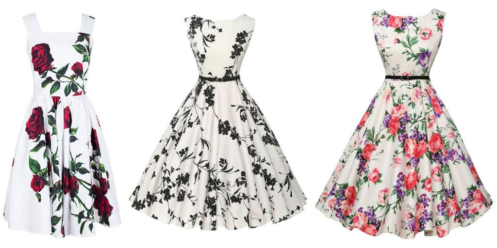 white vintage dresses & white retro dress