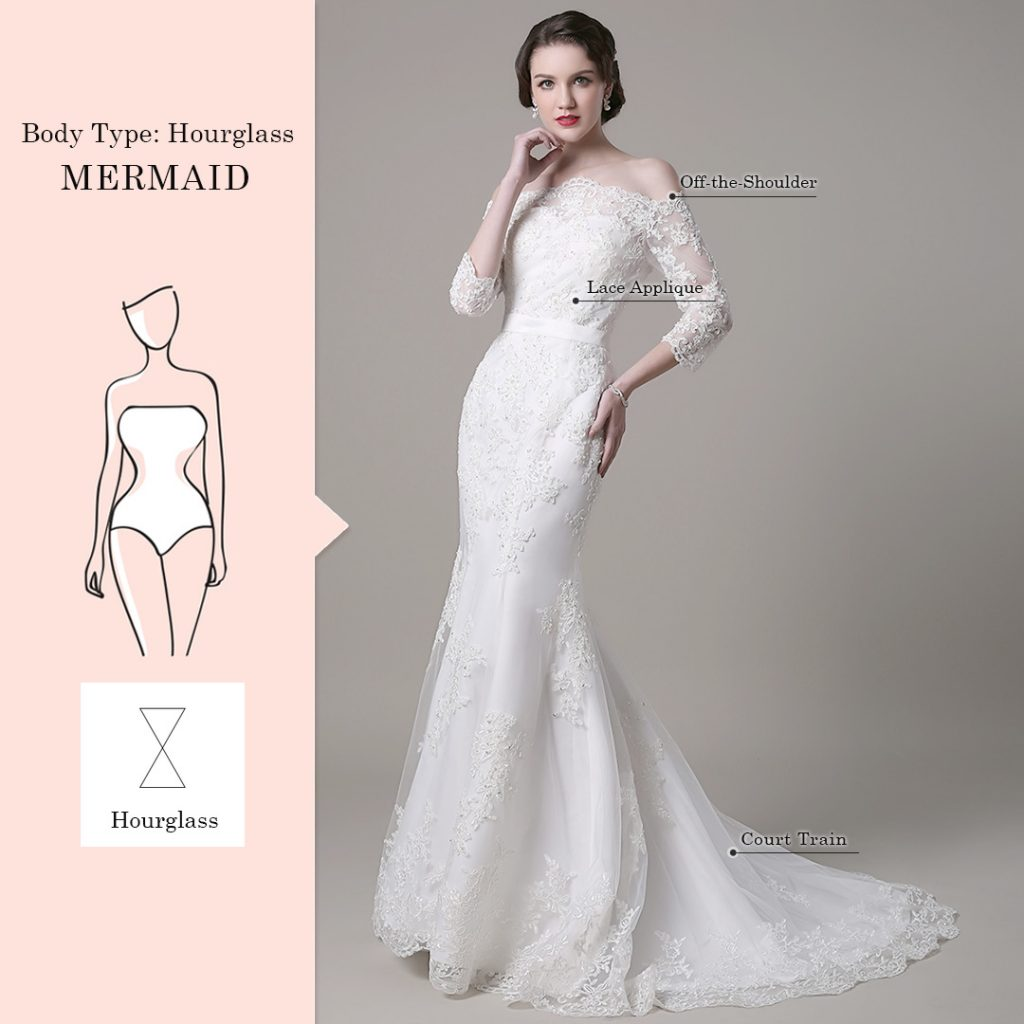 wedding dresses for hourglass body type