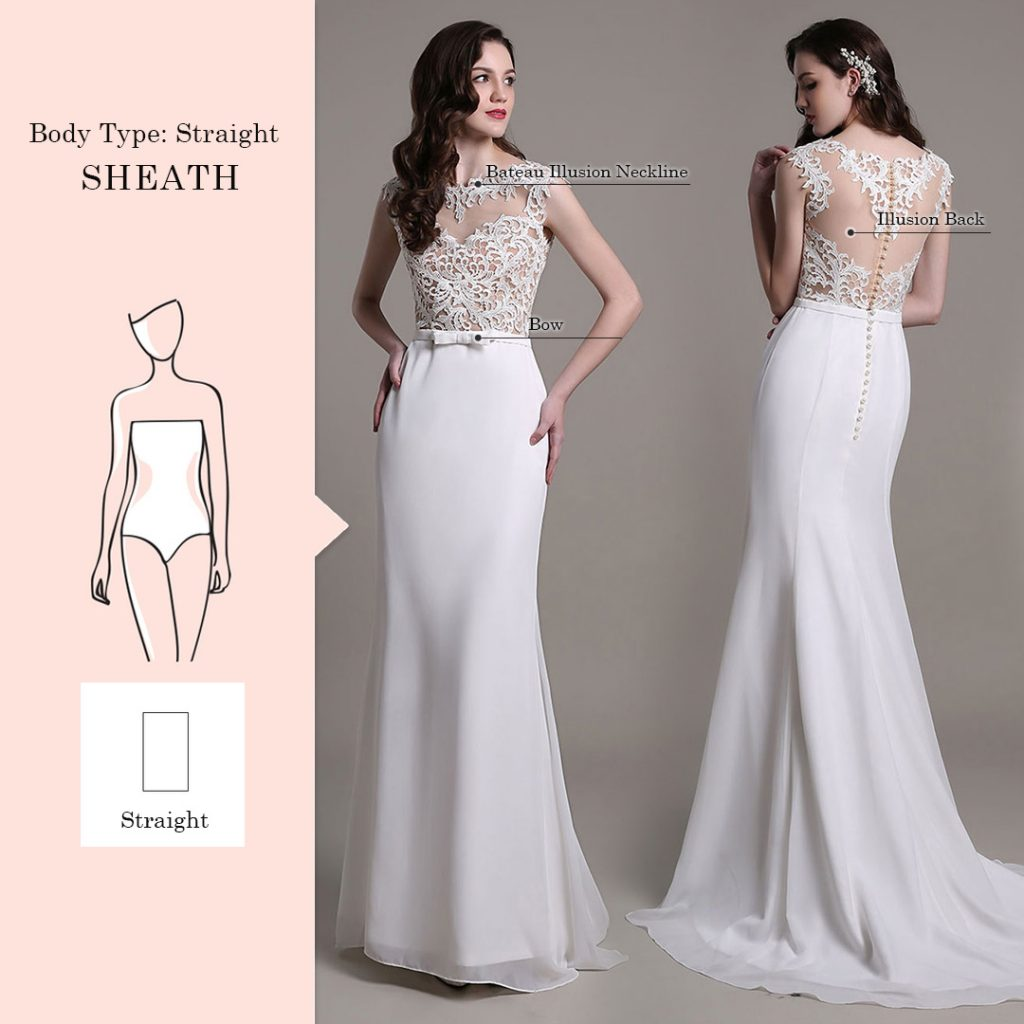 wedding dresses for straight body type