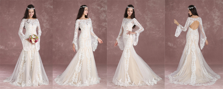 boho wedding dress & beach wedding dress
