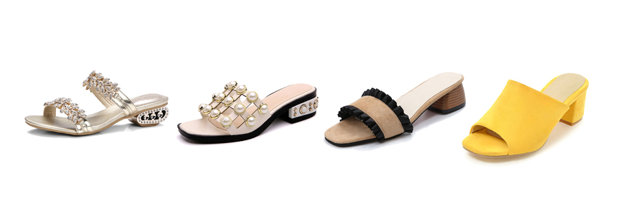 kitten heel slippers