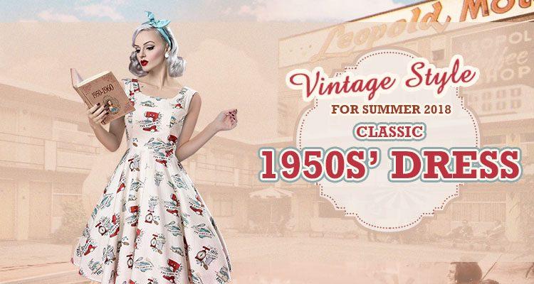 the 1950s' vintage dresses