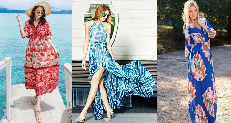 bright color floral dresses