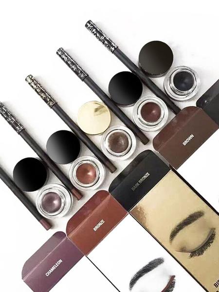 Eyeliner Makeup Set Black Waterproof Eyeliner Cream